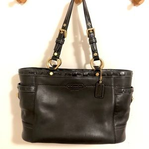 Large Coach tote bag in black